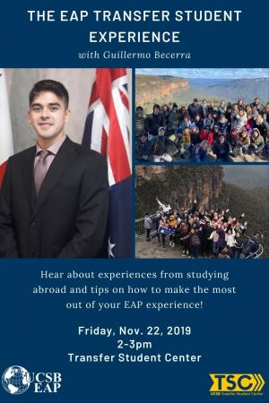 Hear about experiences from studying abroad and tips on how to make the most out of your EAP experience!
