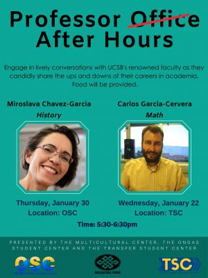 Engage in lively conversations with UCSB's renowned faculty as they candidly share the ups and downs of their careers in academia. Food will be provided.