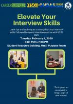 Learn tips and techniques to strengthen your interview skills! Followed by speed interview practice with UCSB Staff.