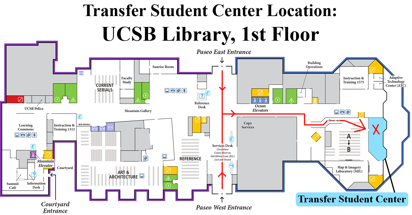 Transfer Student Center Map