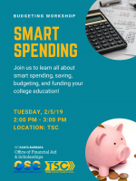 Join us to learn all about smart spending, saving, budgeting, and funding your college education!